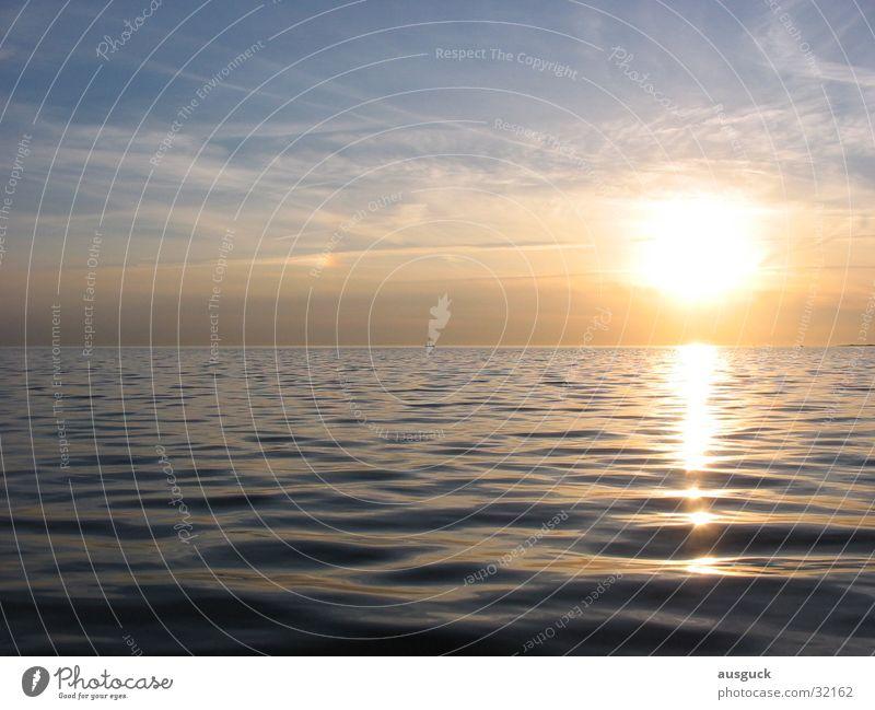 Lightwide Sonne ruhig Wasserfahrzeug Wellen Frieden Segeln Abenddämmerung Jacht ankern Sportboot