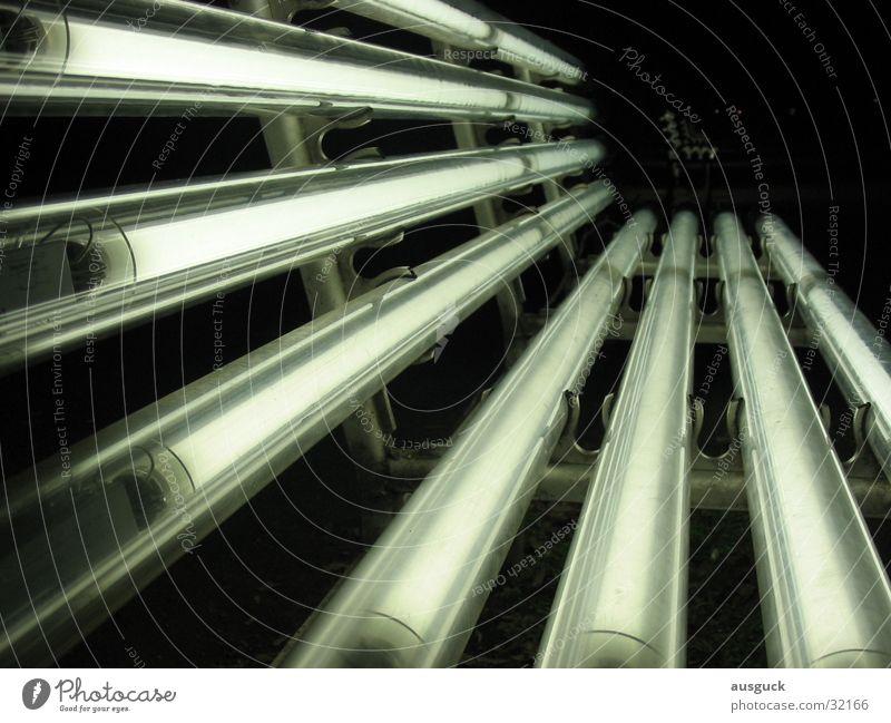 Strahlebank Park Nacht Licht Bank Laterne obskur Lampe sitzen Wege & Pfade