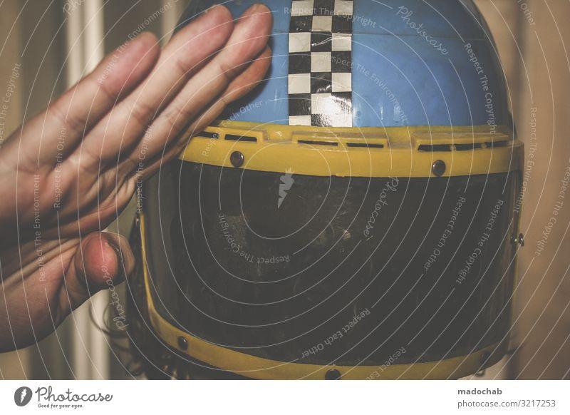 Major Tom Technik & Technologie Wissenschaften Fortschritt Zukunft High-Tech Luftverkehr Raumfahrt Maske trendy retro verrückt trashig Mut Heimweh Fernweh