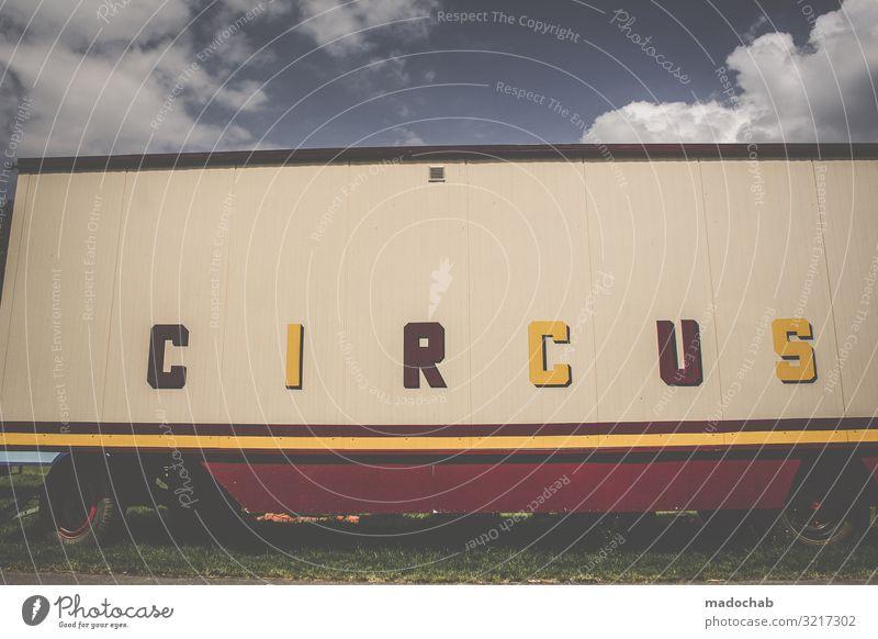 Zirkus Lifestyle Freude Entertainment Feste & Feiern Kunst Kultur Veranstaltung Show Verkehr Güterverkehr & Logistik Fahrzeug Wohnmobil Wohnwagen Bauwagen