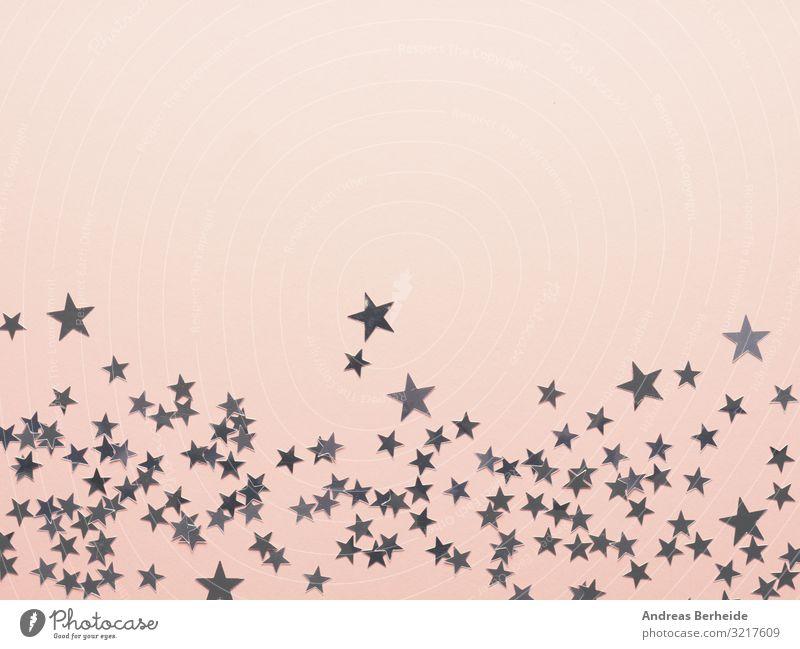Pink Christmas background with stars Stil Design Winter Weihnachten & Advent Dekoration & Verzierung Zeichen rosa abstract pattern blue white wallpaper