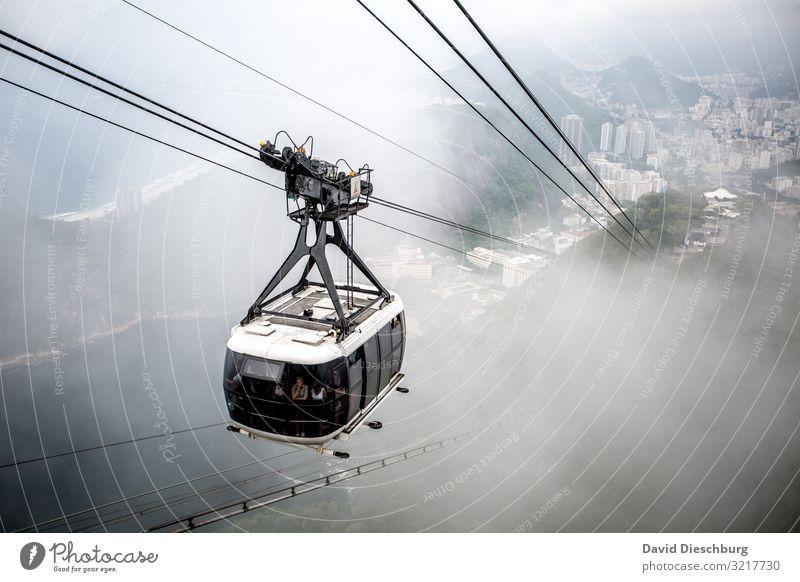Bahn zum Zuckerhut Ferien & Urlaub & Reisen Tourismus Ausflug Sightseeing Städtereise Landschaft Himmel Wolken Nebel Hügel Felsen Alpen Berge u. Gebirge Gipfel