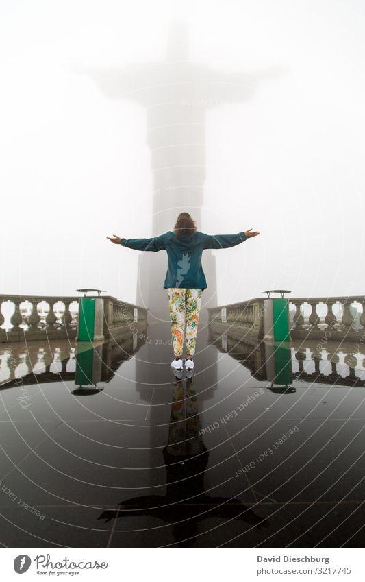 Christuskopie Ferien & Urlaub & Reisen Tourismus Sightseeing Städtereise Nebel Regen Sehenswürdigkeit Wahrzeichen Denkmal Glaube Religion & Glaube Hoffnung