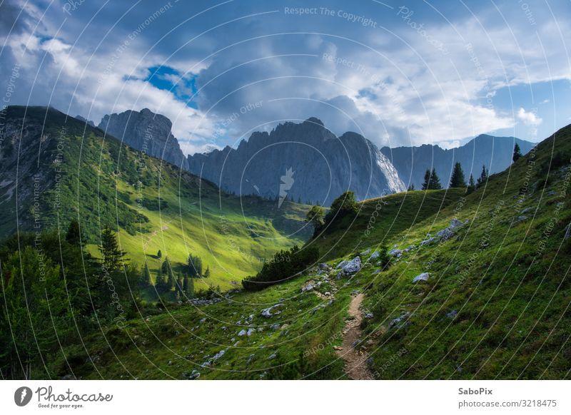 Kaisergebirge Ferien & Urlaub & Reisen Tourismus Ausflug Freiheit Sommer Berge u. Gebirge wandern Alpen natürlich blau grün ruhig Fernweh Abenteuer