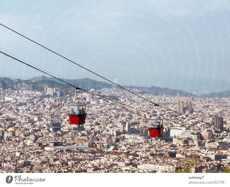 Seilbahn Himmel Stadt Haus Berge u. Gebirge Europa Spanien Barcelona