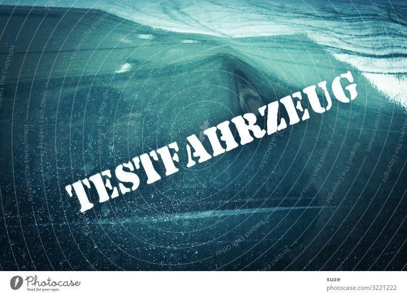 Dem Elch gehts gut lustig kaputt Autotür Typographie Fahrzeug Prüfung & Examen Hinweis Unfall Versuch Blech Reparatur Schaden