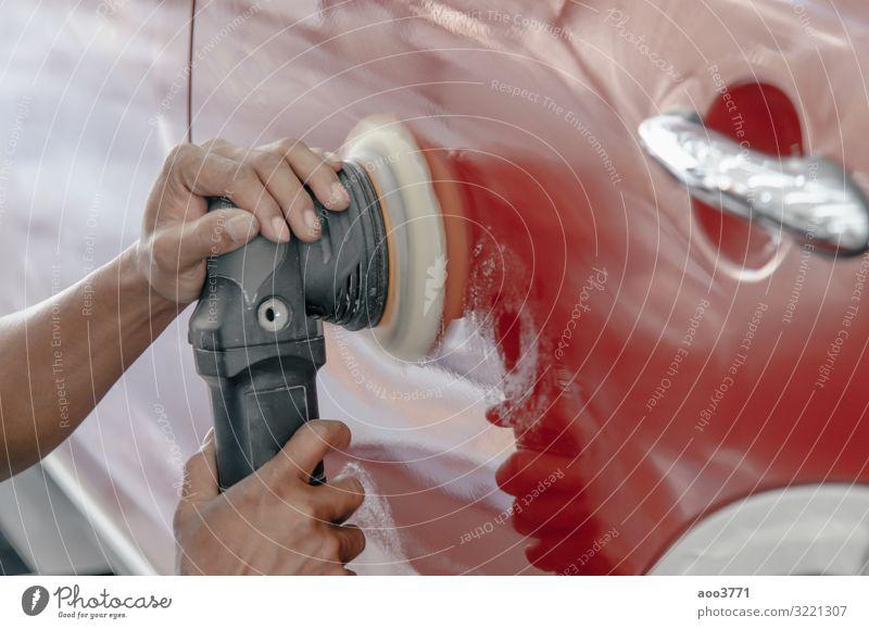 Auto-Detaillierung Auto kaufen Reichtum Arbeit & Erwerbstätigkeit Beruf Werkzeug Technik & Technologie Mann Erwachsene Hand Verkehr Fahrzeug PKW Stoff Leder