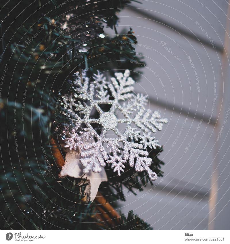 Eiskristall Weihnachten & Advent Kitsch Winter Weihnachtsdekoration Weihnachtsmarkt glänzend Fassade Häusliches Leben Wand Zimt Außenaufnahme Menschenleer