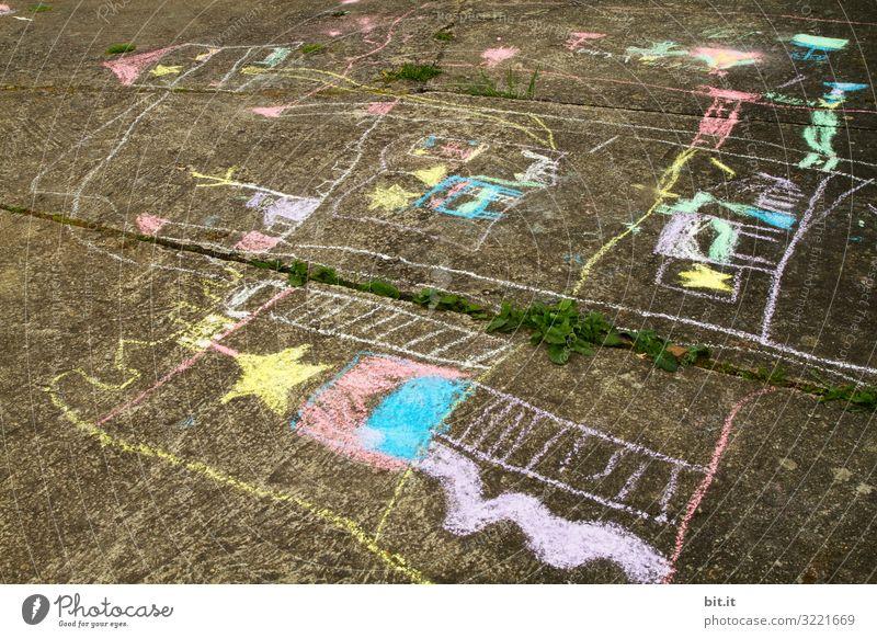 Spielstraße Kindererziehung Bildung Kindergarten lernen Schulhof Arbeit & Erwerbstätigkeit Beruf Kindheit Kunst Kunstwerk Gemälde Freude Glück Fröhlichkeit