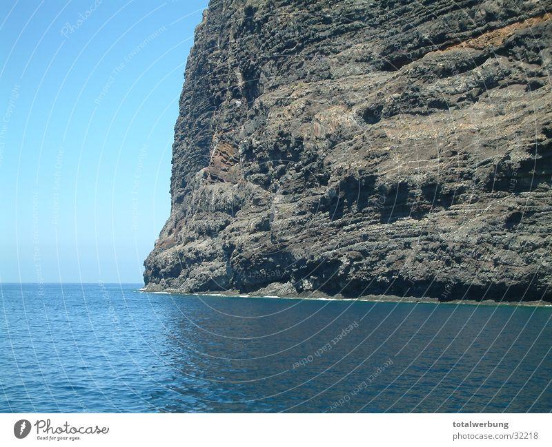 Steilküste Klippe Meer Europa Berge u. Gebirge Wasser Himmel