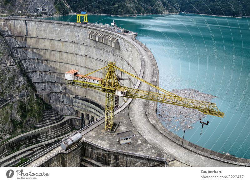 Enguri Staudamm, Georgien blau Ferne Umwelt grau Arbeit & Erwerbstätigkeit modern Energiewirtschaft Technik & Technologie Beton Sehenswürdigkeit planen stark