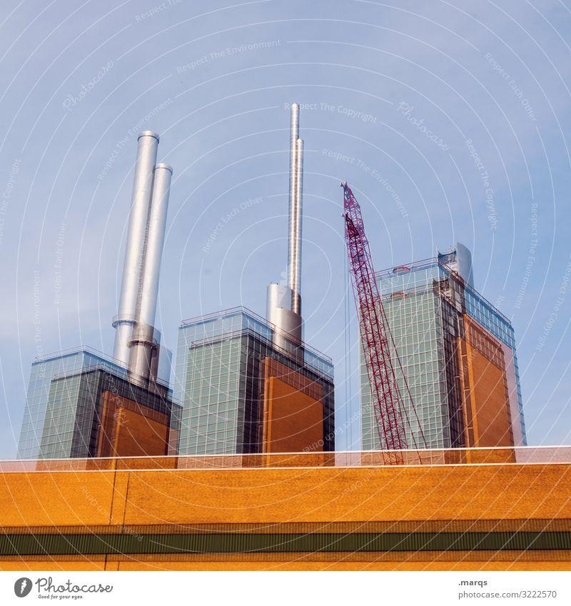 SOS in H Energiewirtschaft Energiekrise Wolkenloser Himmel Hannover Bauwerk Gebäude Architektur Heizkraftwerk außergewöhnlich verrückt nachhaltig