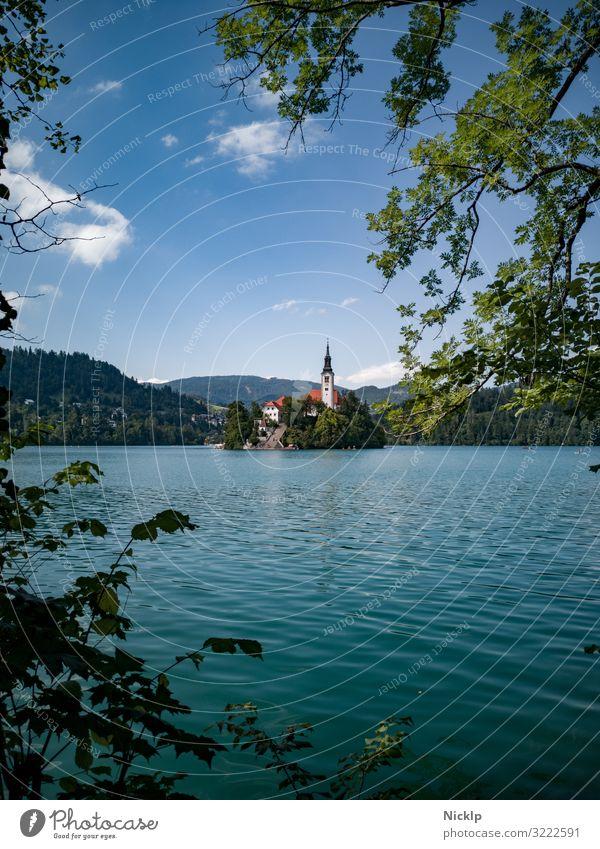 """Kirche auf Insel - Wallfahrtskirche """"Mariä Himmelfahrt"""", auf Insel im Bleder See, Kurort Bled, Slowenien Ferien & Urlaub & Reisen Sommerurlaub Tourismus"""