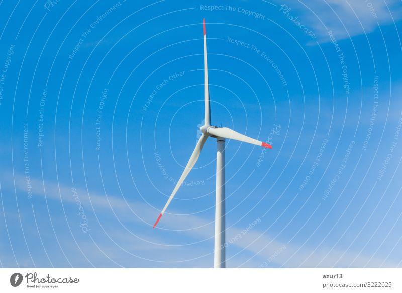 Rotating windmill generating renewable energy with wind power Business Natur Urelemente Klimawandel Schönes Wetter Wind drehen Kraft Umweltschutz turbines