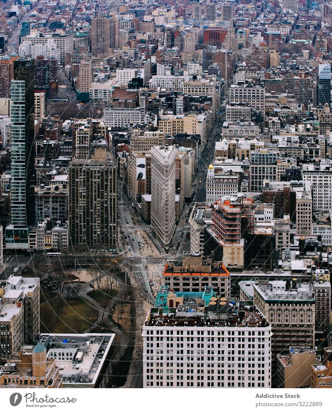 Architektur des modernen Stadtbezirks Manhattan New York State Wolkenkratzer urban Großstadt USA nyc Perspektive Wahrzeichen Stadtbild Stadtzentrum amerika