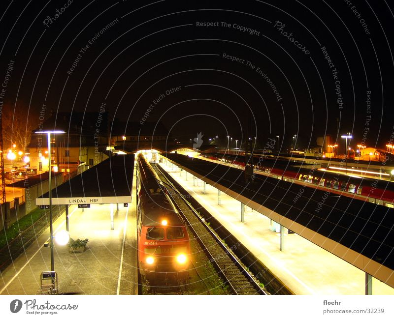 Nightrail II Eisenbahn Nacht Lokomotive Eisenbahnwaggon Lindau Elektrisches Gerät Technik & Technologie Bahnhof DB 218