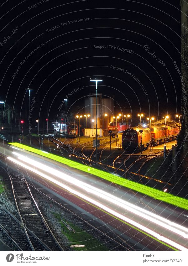 Nightrail Eisenbahn Nacht Lokomotive Eisenbahnwaggon Lindau Elektrisches Gerät Technik & Technologie Bahnhof Bewegung DB