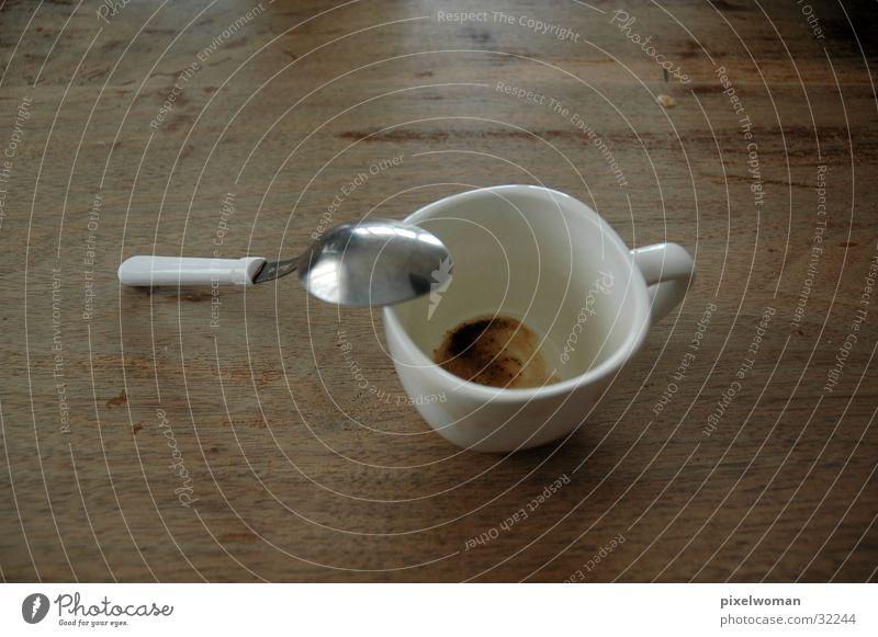Kaffetasse weiß Ernährung Kaffee Pause Tasse Löffel