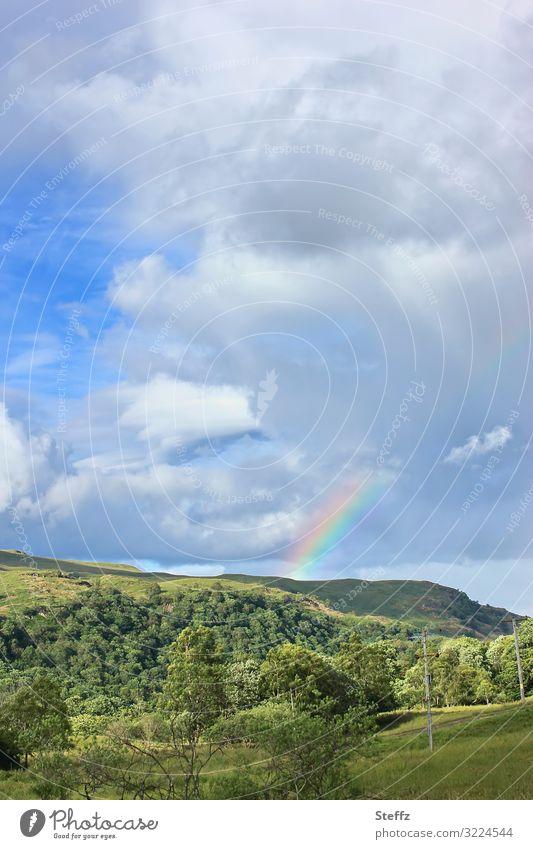 Ein neuer Tag Umwelt Natur Landschaft Himmel Wolken Sonnenlicht Sommer Schönes Wetter Hügel Schottland Großbritannien Europa Nordeuropa leuchten natürlich schön