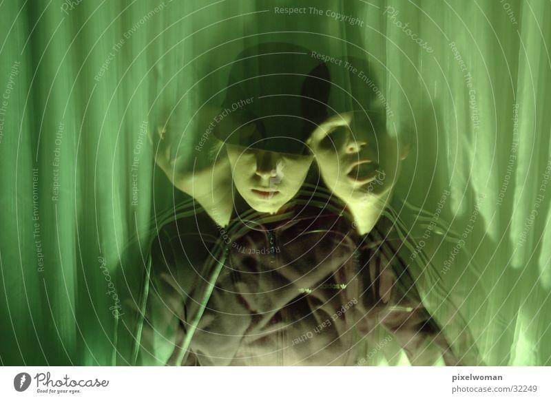 Kopfschütteln grün Fototechnik