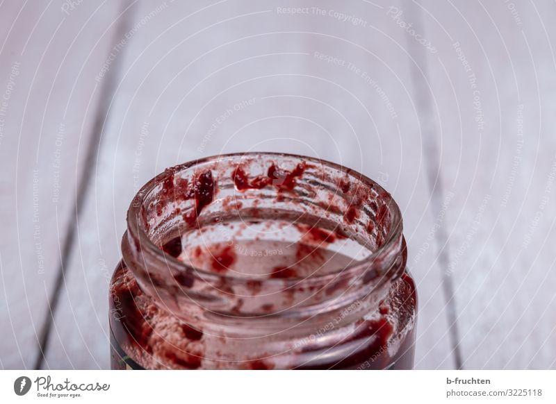 Leeres Marmeladeglas Lebensmittel Ernährung Essen Frühstück Büffet Brunch Bioprodukte Vegetarische Ernährung Glas Gesunde Ernährung Verpackung wählen gebrauchen