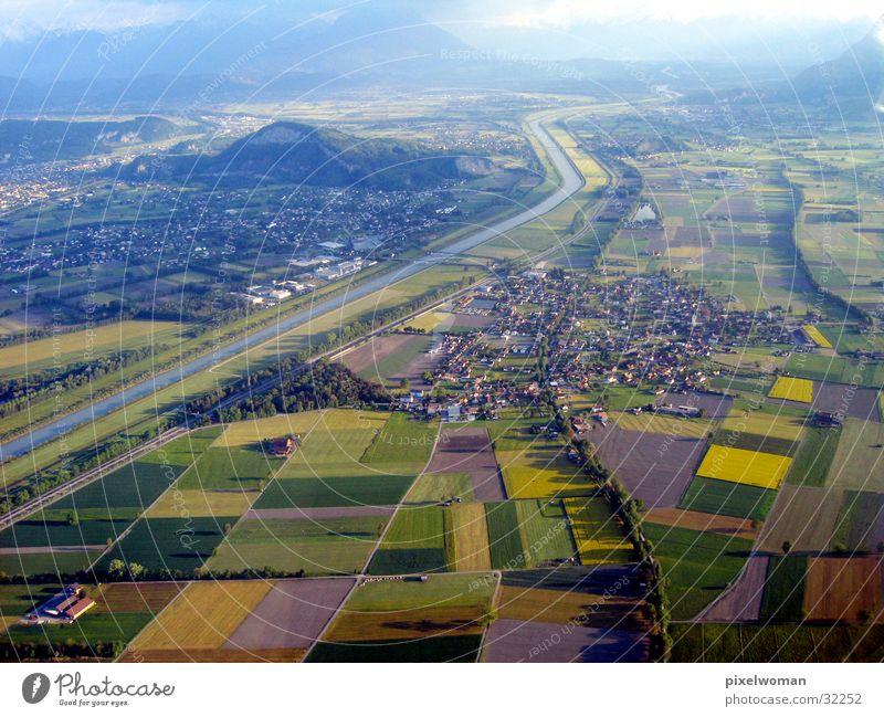 Panorama groß Luftverkehr Aussicht