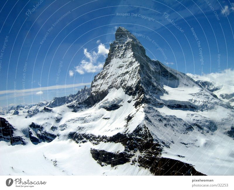 matterhorn Natur Himmel Schnee Berge u. Gebirge Stein