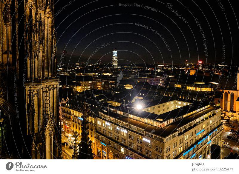 et kütt wie et kütt Köln Stadt Stadtzentrum Dom Bauwerk Gebäude Architektur Dach Sehenswürdigkeit Wahrzeichen blau braun gelb gold orange schwarz türkis