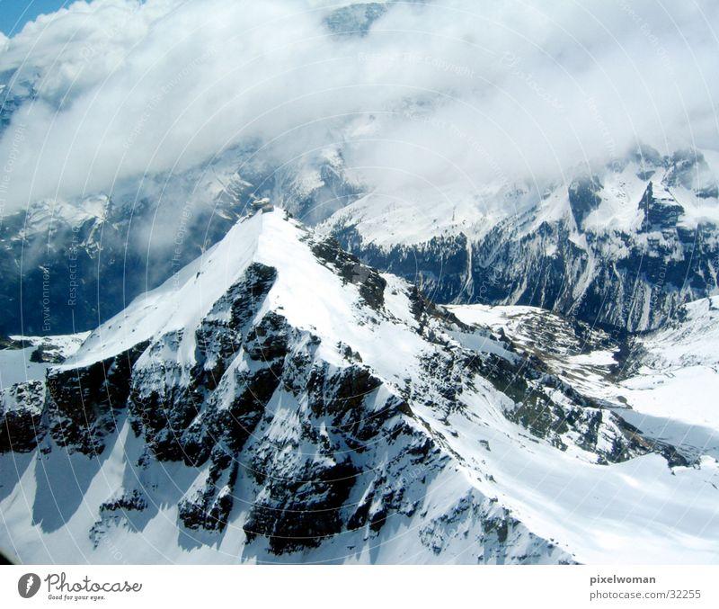 Berge Wolken Schnee Berge u. Gebirge Wetter