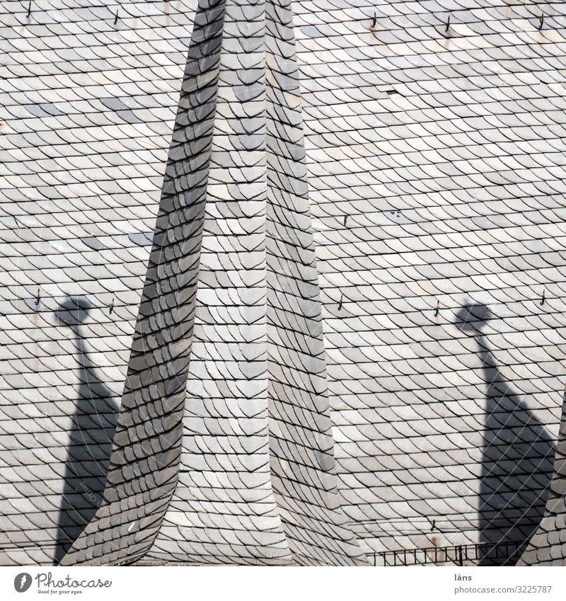 Alsfelder Dachlandschaft Stadt Altstadt Turm Gebäude außergewöhnlich Zusammensein schön grau Häusliches Leben Dachziegel Farbfoto Außenaufnahme Menschenleer