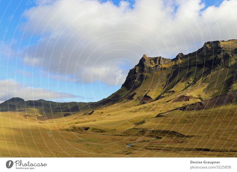 exceptionally beautiful landscape in Iceland Ferien & Urlaub & Reisen Sommer Strand Umwelt Natur Landschaft Sand Himmel Sonne Klima Klimawandel Wetter