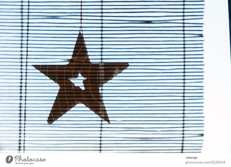 Stern unscharf mit Zettecke Häusliches Leben Weihnachten & Advent Fenster Dekoration & Verzierung Rollladen Linie Stern (Symbol) hängen authentisch einfach