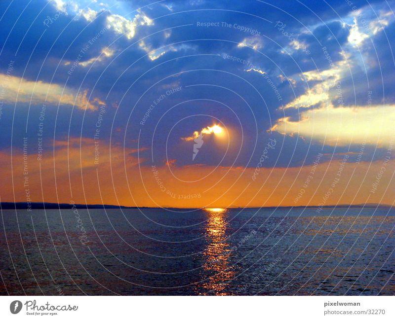 Abendrot3 Wasser Sonne Abenddämmerung