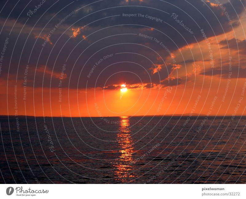 Abendrot Wasser Sonne Abenddämmerung