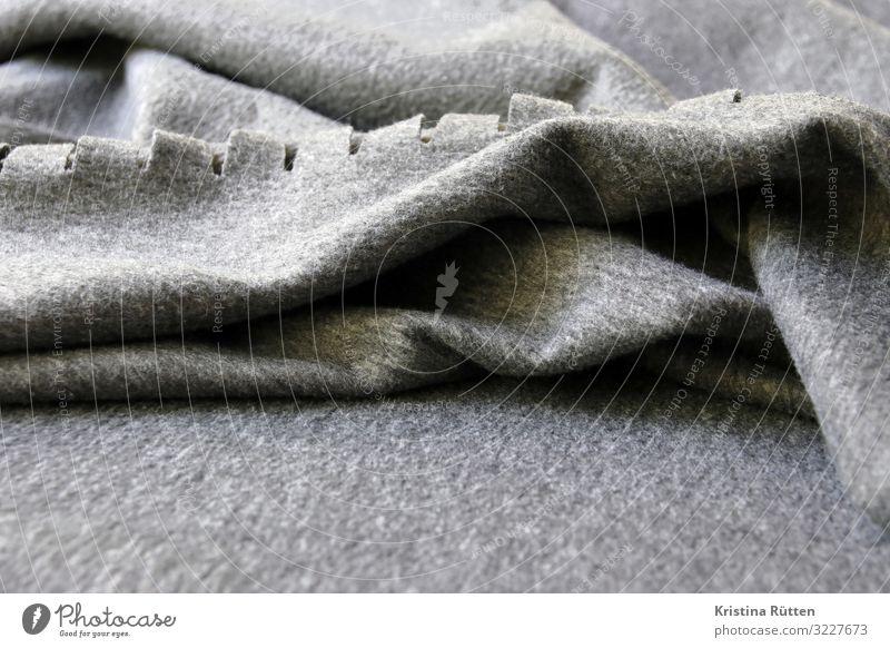 graue fleece decke Wellen schlechtes Wetter Stoff kuschlig weich bequem Fleece Textilien Filz kunstfilz velour plaid gewebt Hintergrundbild struktur Material