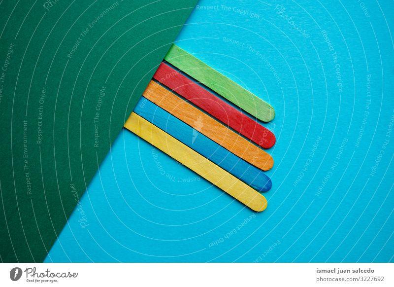 bunte Holzstöcke Dekoration, mehrfarbiger Hintergrund Stock Essstäbchen Farbe Dekoration & Verzierung verziert Konsistenz Strukturen & Formen Hintergrundbild