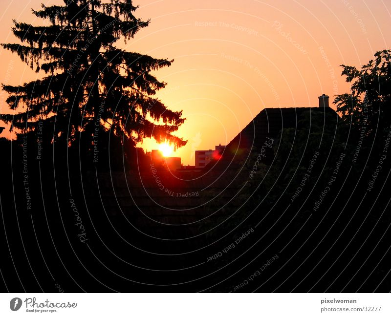 Abendrot Sonne Abenddämmerung