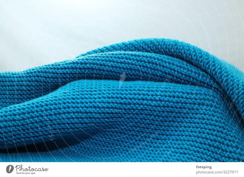 Wolldecke Handarbeit stricken Bekleidung Stoff retro blau Tradition Baumwolle Decke Handarbeiten Hintergrundbild häkeln Luftmaschen Schlaufe Schafwolle