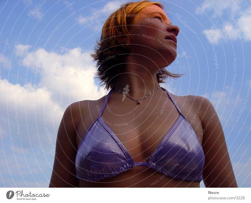 Lichtblick Frau Himmel Sonne Sommer Erotik Bikini Mensch