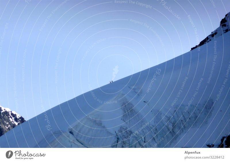 Dimensionen | Bergsteigersuchbild Klimawandel Schönes Wetter Eis Frost Felsen Alpen Berge u. Gebirge Mönch (Berg) Gipfel Schneebedeckte Gipfel Gletscher kalt