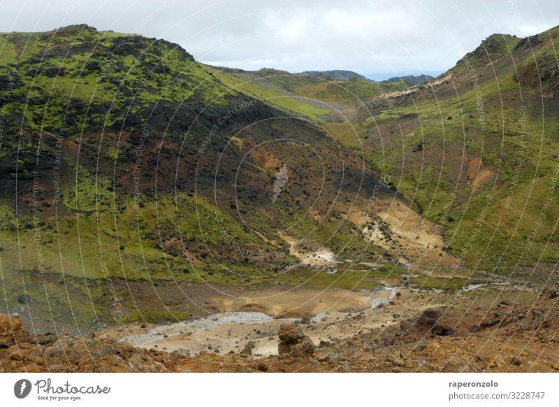 Geothermisch aktives Gebiet nahe Krysuvik, Island Geothermie Seltun globalen Geopark Europa Nationalpark Landschaft Umweltschutz Energiewirtschaft bunt