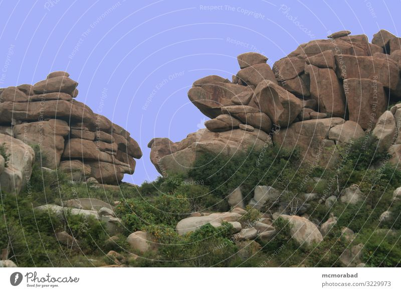 Felsen von Angesicht zu Angesicht Natur Stein natürlich Zusammenhalt Steinblock riesig Riese Mammut kolossal glatt strukturiert Oberfläche Konsistenz Korn