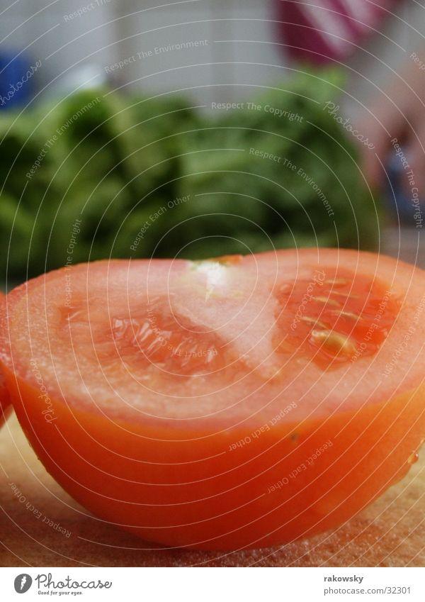 Tomate rot Ernährung Gesundheit Gastronomie Gemüse lecker Tiefenschärfe Salat saftig