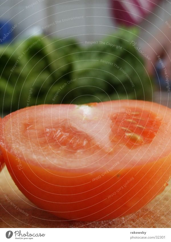 Tomate rot Ernährung Gesundheit Gastronomie Gemüse lecker Tiefenschärfe Tomate Salat saftig