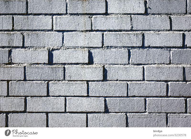 Mauer Maurer Wand Backsteinwand Linie authentisch einfach grau schwarz Schutz formatfüllend Hintergrundbild Farbfoto Gedeckte Farben Außenaufnahme