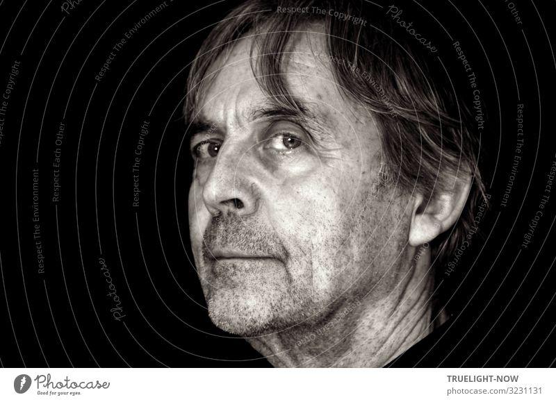 Guckst du...!? (Selfie) | Vorsicht, scharf! Männlicher Senior Mann Leben Kopf Haare & Frisuren Gesicht 60 und älter langhaarig Dreitagebart beobachten