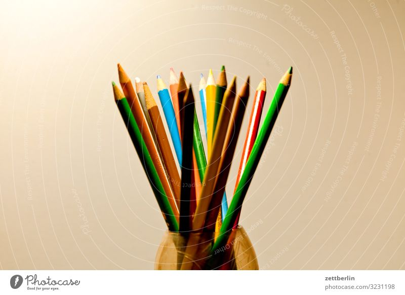 Kunterbuntstifte Hobelbank mehrfarbig Farbstift Entwurf Farbe Mediengestalter Grafiker Grafik u. Illustration illustrieren Idee Kreativität Kreide kreieren