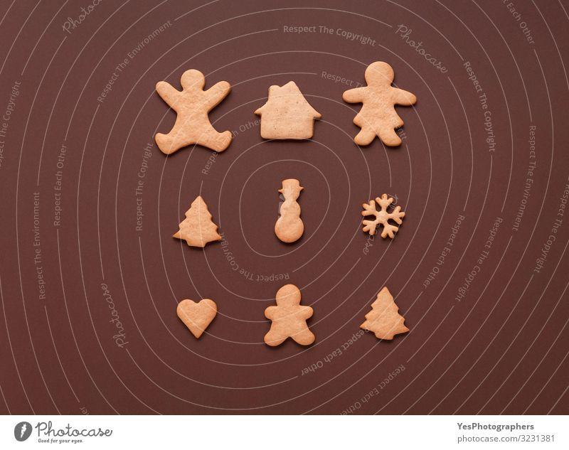 Lebkuchen in vielen Formen. Weihnachtssymbol Weihnachtssüßigkeiten Dessert Süßwaren Winter Weihnachten & Advent Silvester u. Neujahr Familie & Verwandtschaft