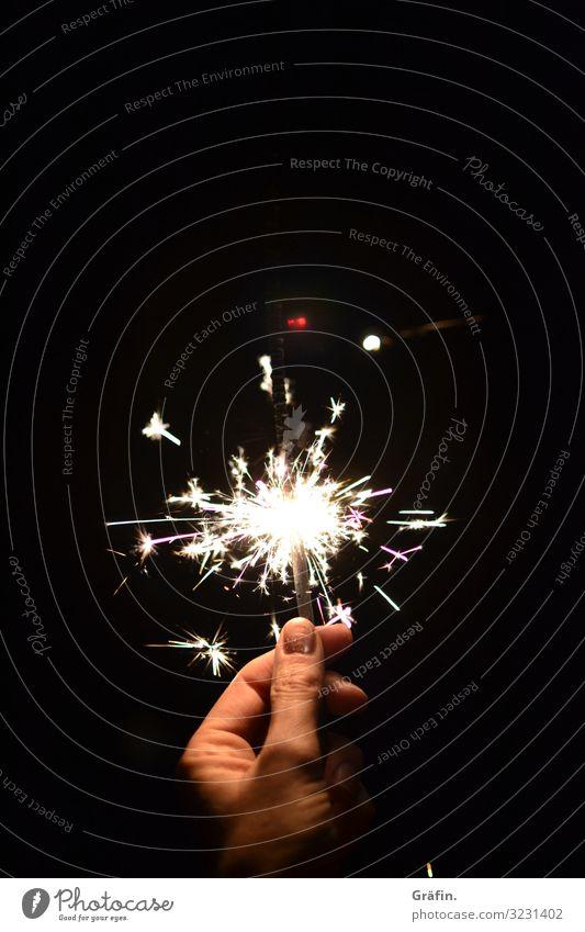 Happy New decade! Nachtleben Party Veranstaltung ausgehen Feste & Feiern Silvester u. Neujahr Geburtstag Wunderkerze festhalten glänzend leuchten Fröhlichkeit
