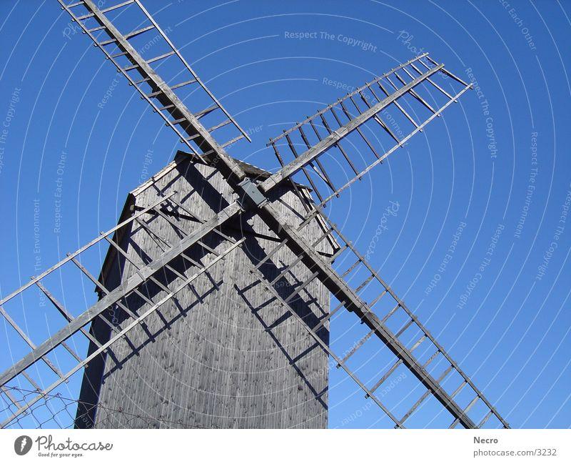 Windmühle 2 Himmel Sonne Sommer Zaun Mühle